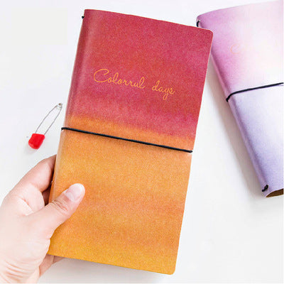 1 Piece Colorful Leather Planner Notebook KINIYO Stationery
