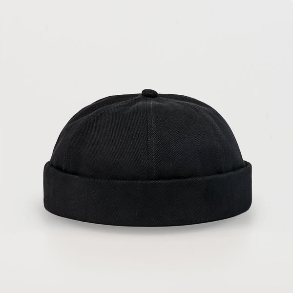 CPTN originals, docker cap, black, cotton, docker hat