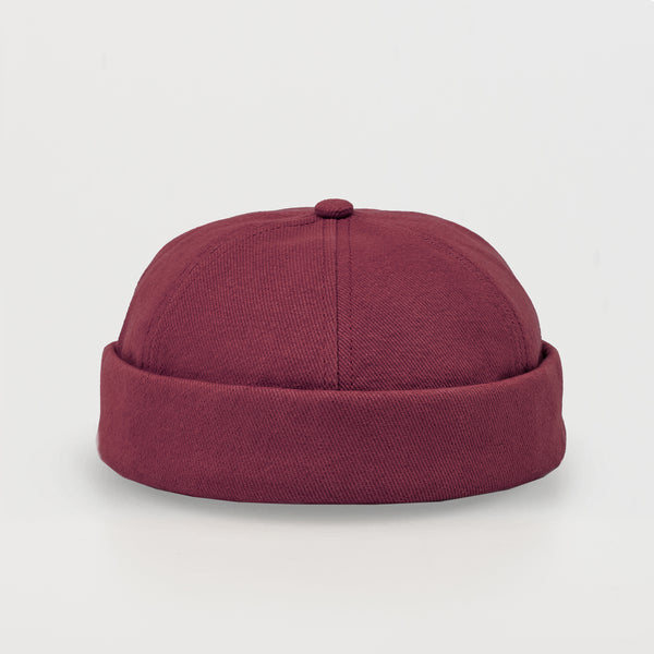 docker hat, miki hat, docker cap, dockers, red, cap, hat, wool cap, wool hat, bordeaux
