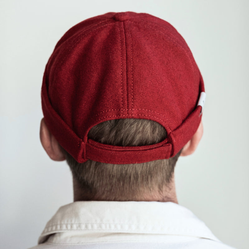 docker hat, miki hat, docker cap, dockers, red, cap, hat, wool cap, wool hat, cptn originals