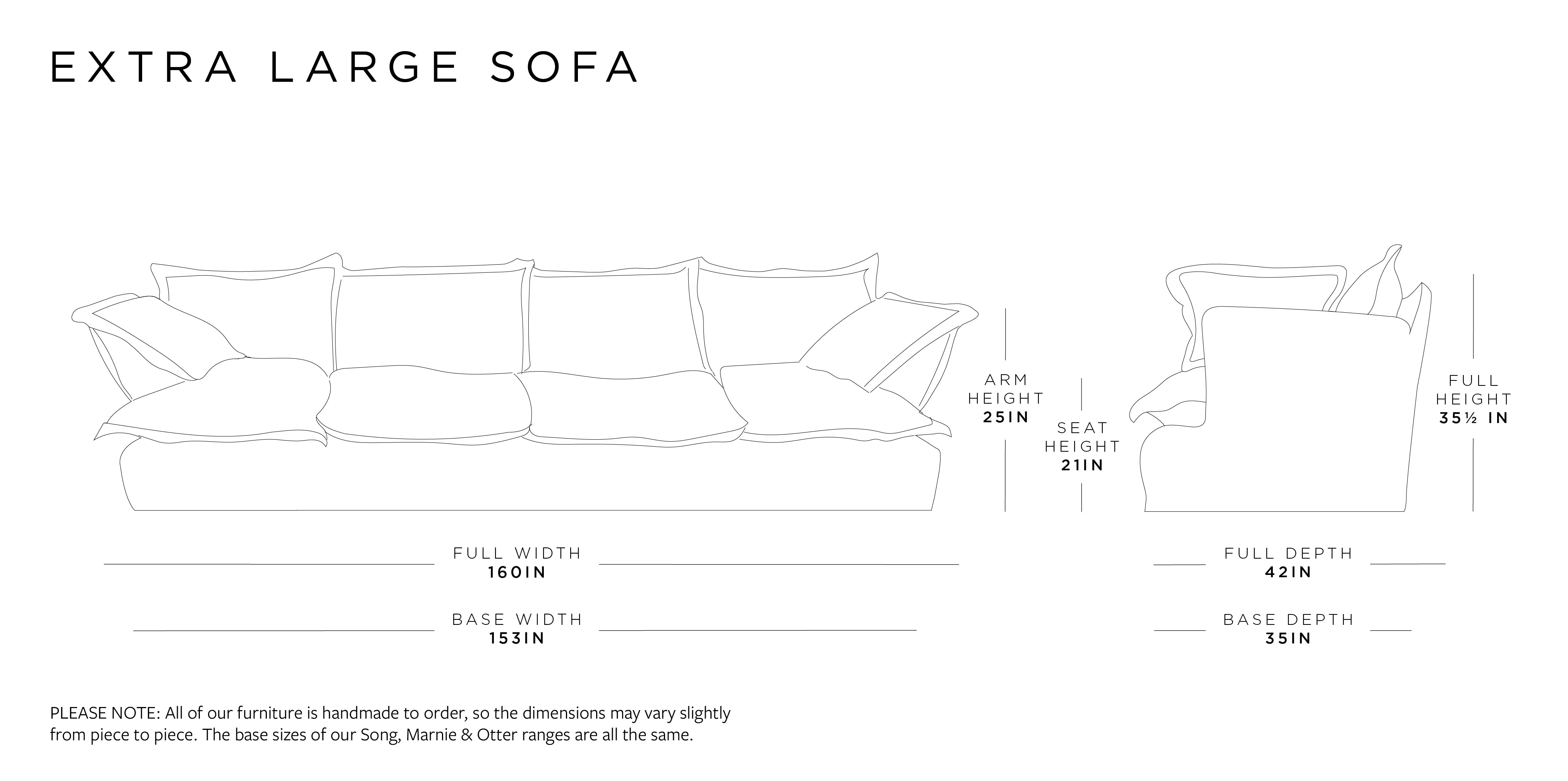 Extra Large Sofa Dimensions