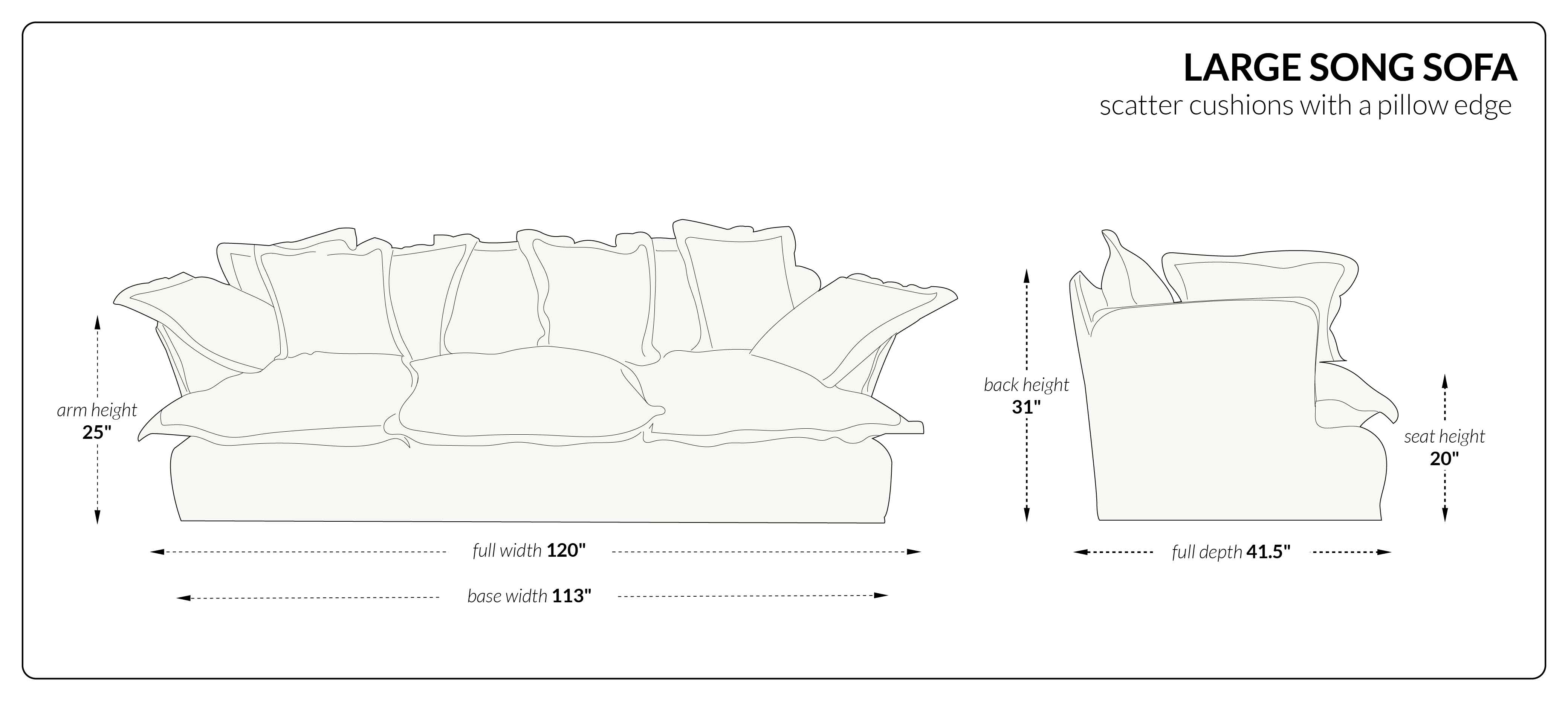 Large Song Sofa scatter