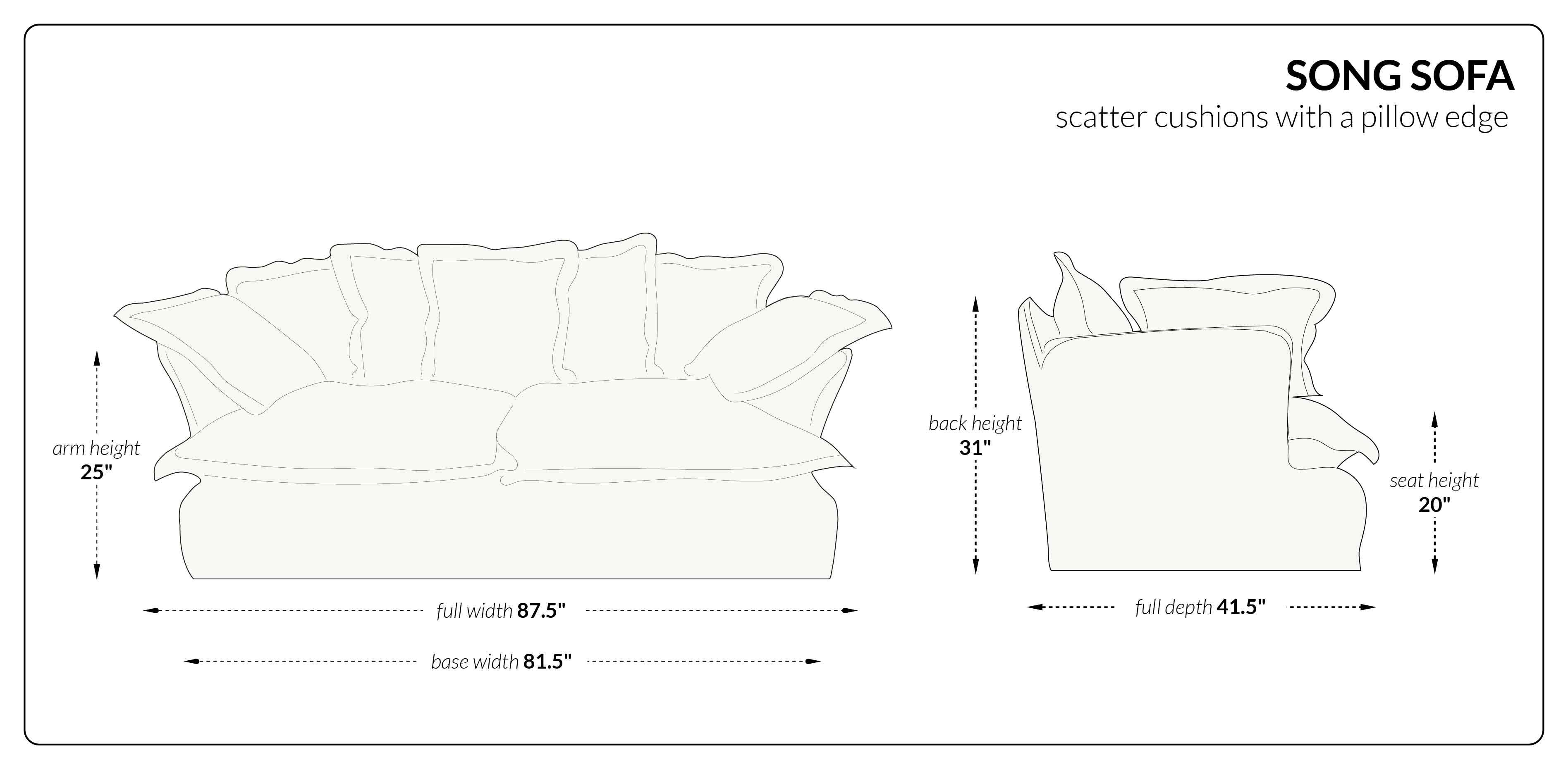 Song Sofa scatter