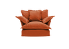 Short Pile Velvet Song Love Seat Sofa