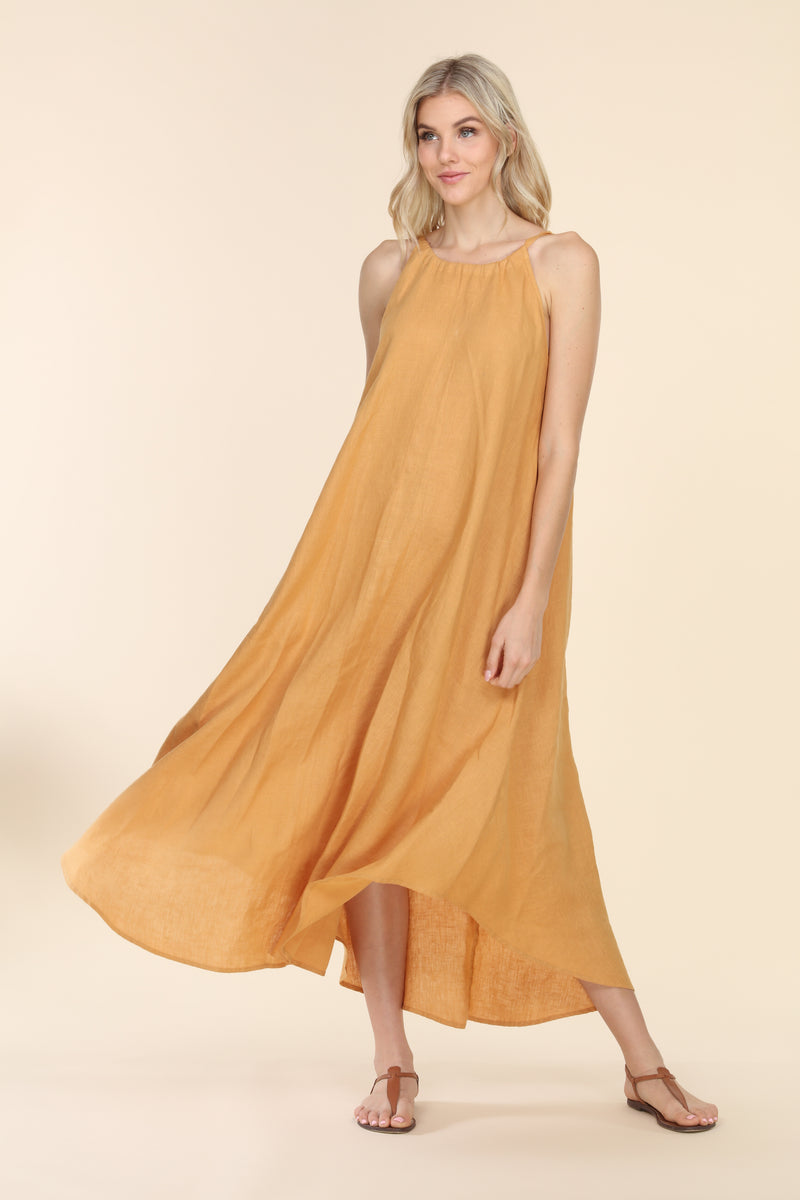 Linen Summer Dress - Honey