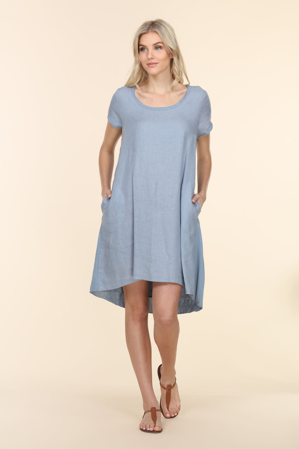 Scoop Mini Dress - Stone