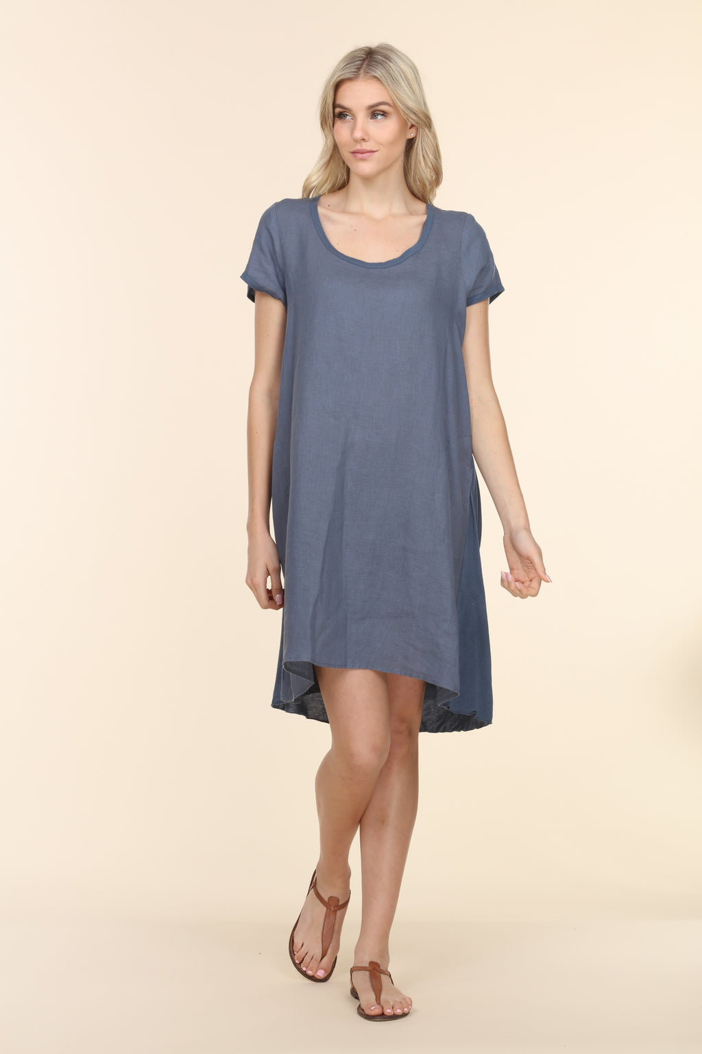 Scoop Mini Dress - Deep Sea