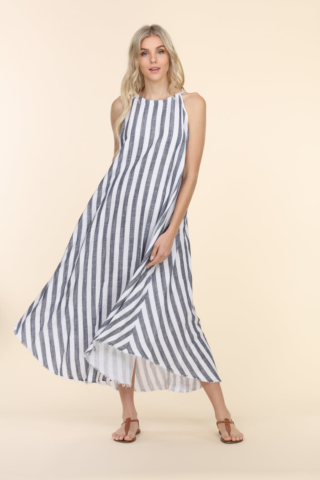 Striped Gauze Dress