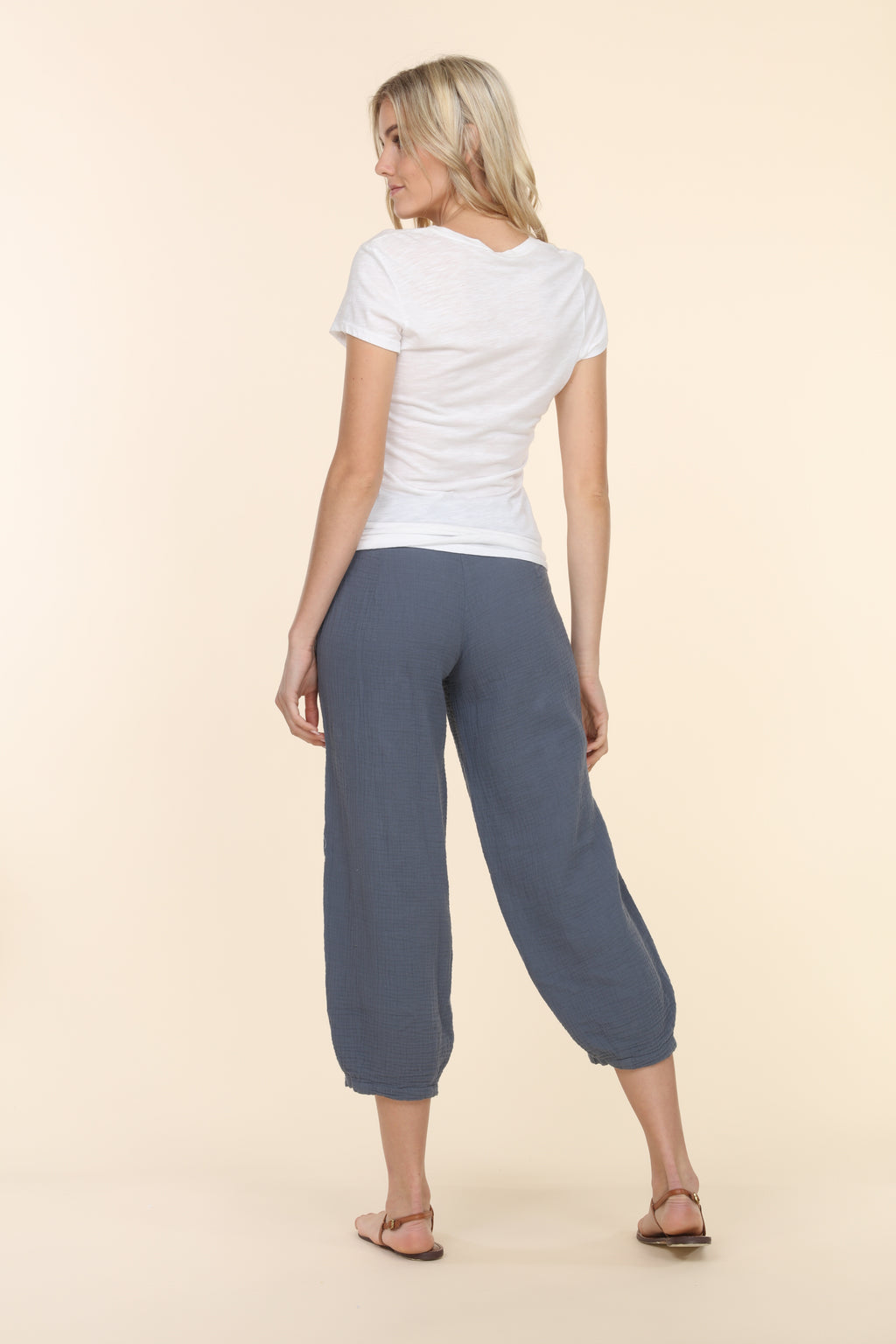 Gauze Capri Pants - Deep Sea