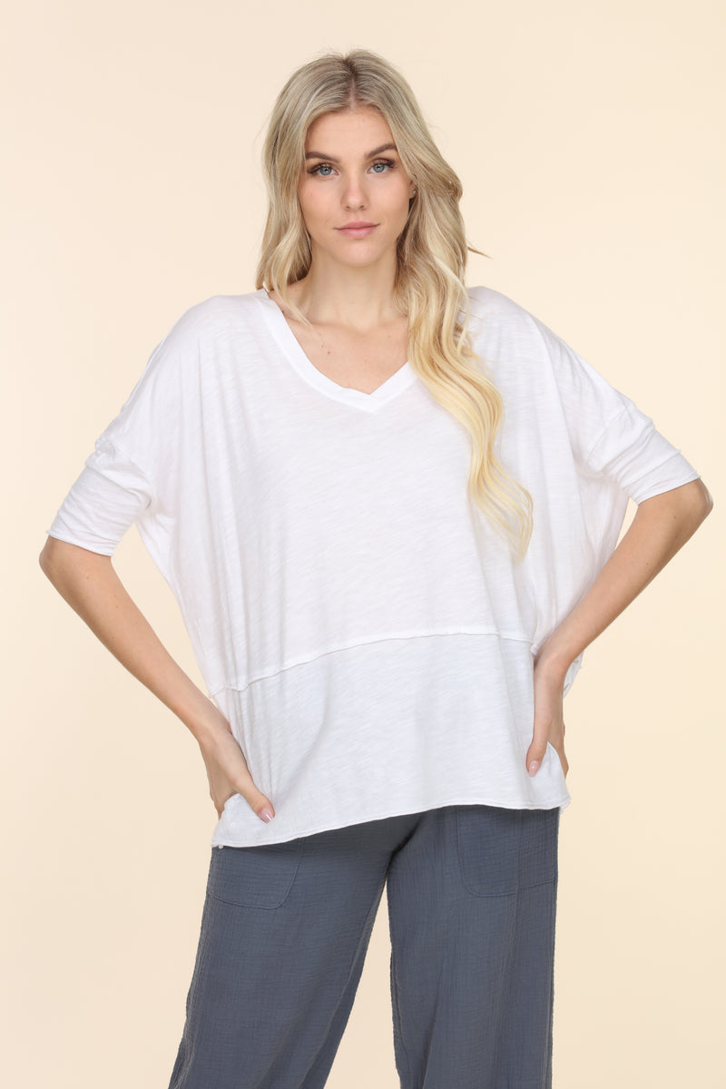 V-Neck Cotton Tee