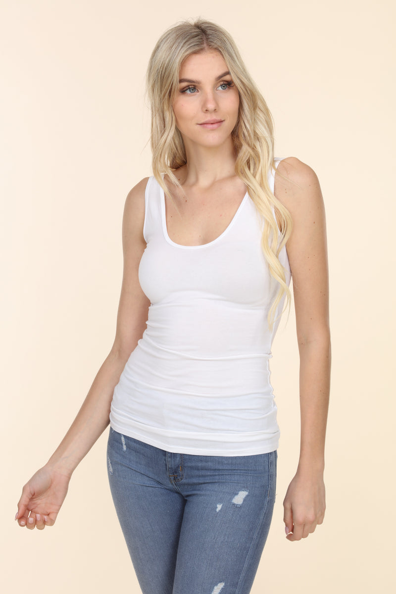 V-Neck Cotton Tee - Sunset