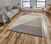 ELEMENTRY WOOL RUG - BEIGE/PEACH