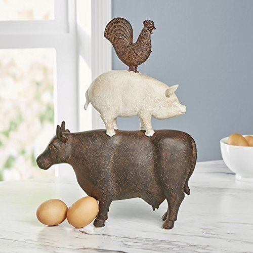 COW PIG CHICKEN STATUE