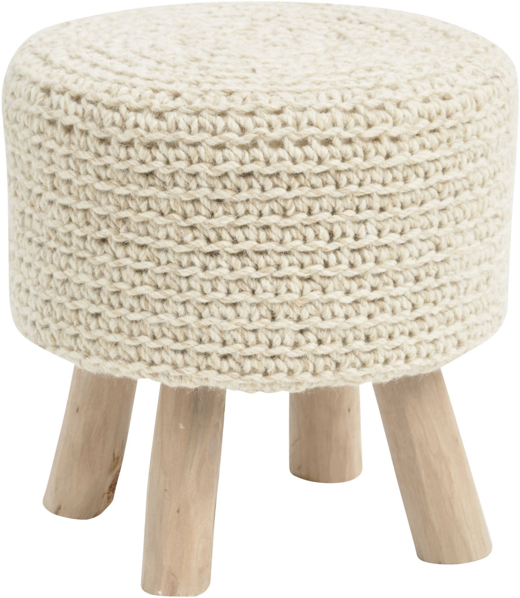 NOMAD KNITTED NATURAL STOOL