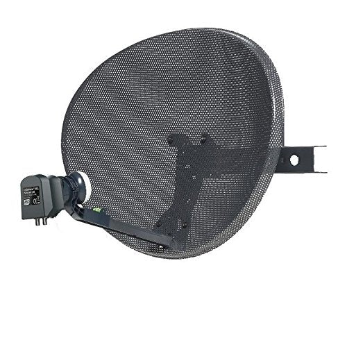 SSL Satellites Zone 1 Satellite Dish & Compatible SKY Q WIDEBAND LNB for Sky HD Q 1TB, Sky Q 2TB