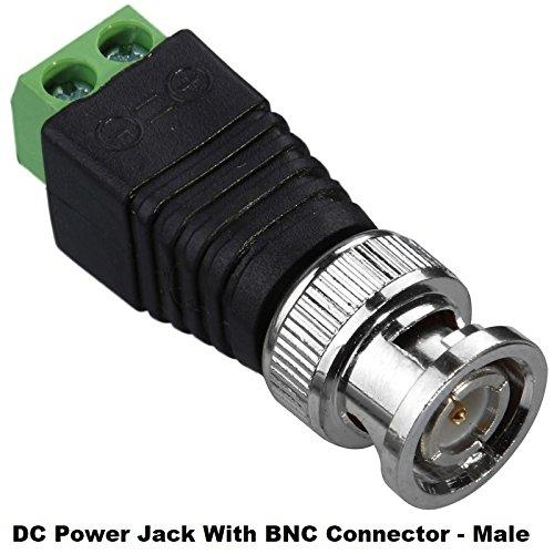 SSL Satellites DC Power Jack with BNC Male Connector - Coaxial TV Cables CCTV