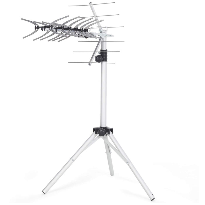 SSL Satellites 36 Element Freeview HD Digital TV Aerial Kit with Lightweight Aluminium Portable Tripod for Camping, Carvan or holiday home