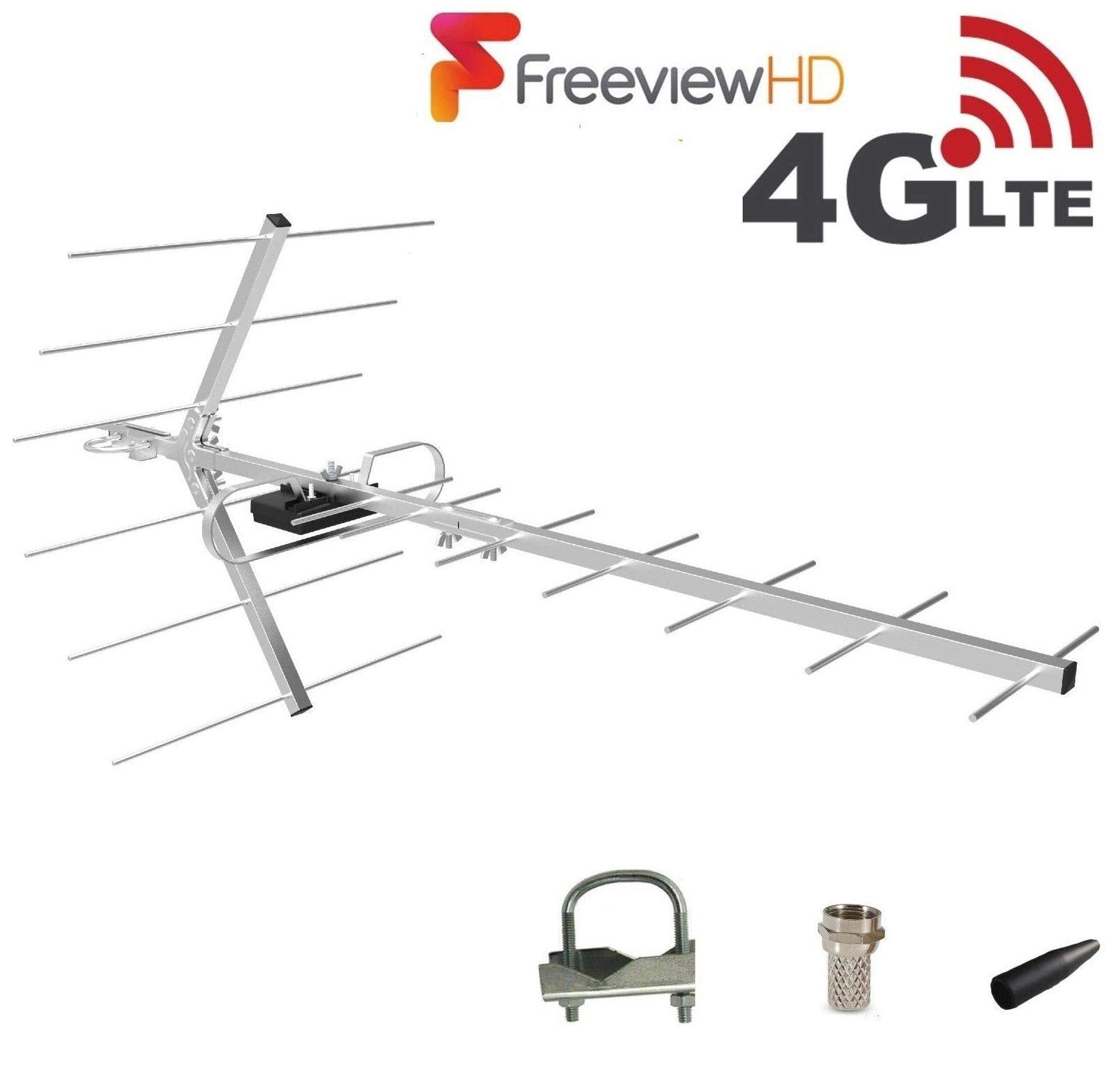 Digital TV Aerial 26 Element HD Freeview loft / outdoor ariel arial antenna 4G