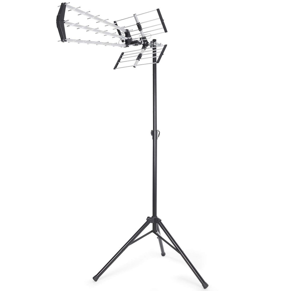 SSL Satellites High Gain 70 Element Tri Boom Freeview HD Digital TV Loft/Outdoor Aerial Kit with Steel Portable Tripod for Camping, Carvan or holiday home