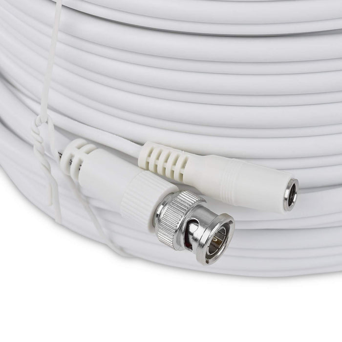 SSL 50M,60M,80M,100M, RG59 BNC Video Power Cable For CCTV Camera DVR Security System White