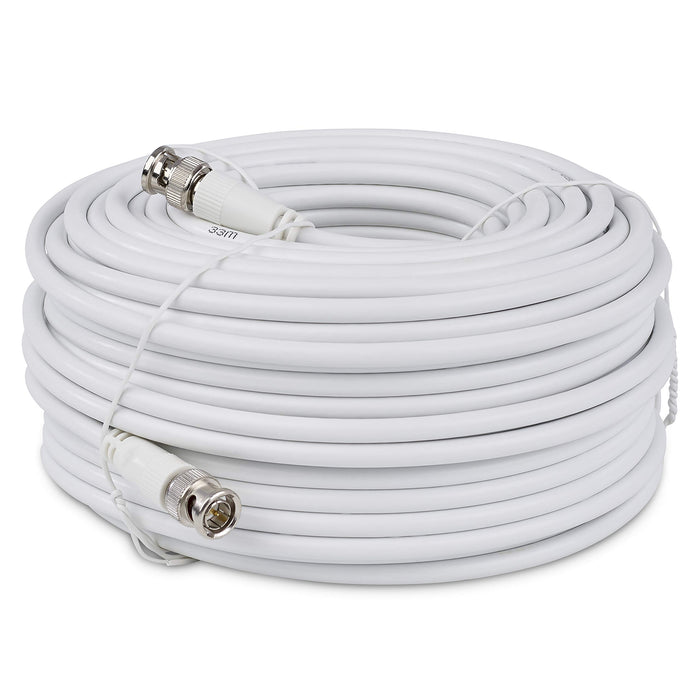 SSL Satellites BNC to BNC CCTV Video Cable Lead Male to Male Plug Camera DVR Kit - (White, Black)