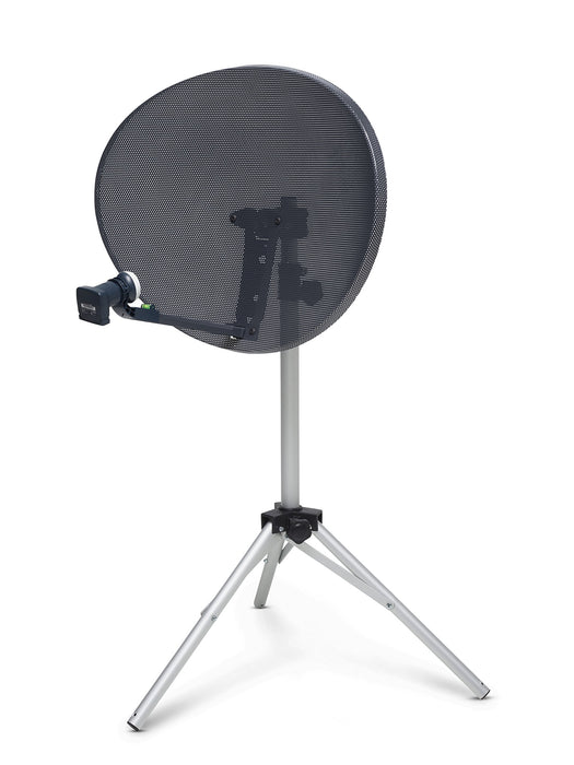 SSL Zone 2 Compatible Sky HD / Freesat / Hotbird / Polesat Satelite dish Quad LNB Kit for Camping, Carvan or holiday home