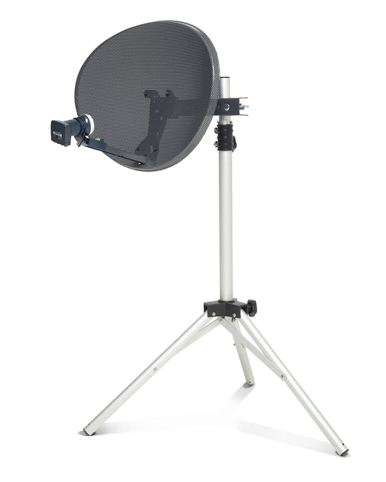 SSL Zone 1 Mini Dish Kit for Sky HD / Freesat / Hotbird / Polesat Satelite dish Quad LNB Kit for Camping, Carvan or holiday home.