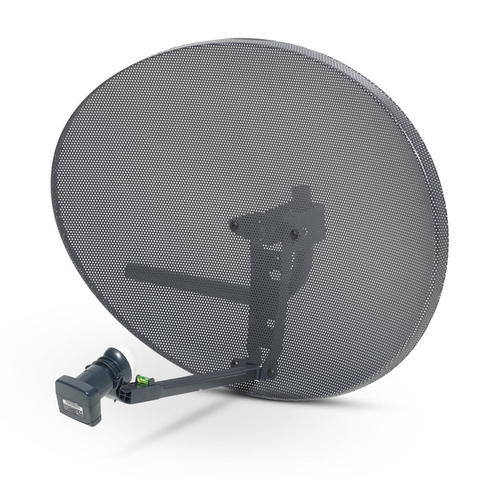 SSL Satellite Zone 1 Satellite Dish & Compatible Sky Q Hybrid LNB - 6 Outputs, 4 Quad outputs for normal Sky HD or FREESAT, 2 wideband outputs for Sky Q, 1TB, 2TB