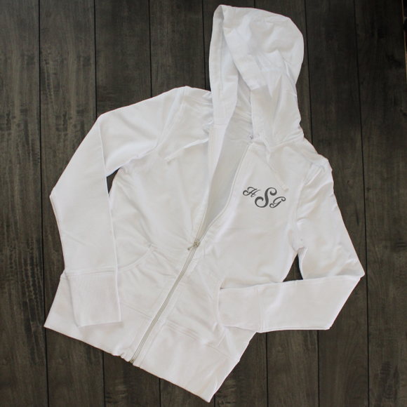 White Zip Up Hooded Jacket - Saved by Grace Through Faith