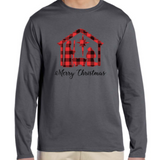 Nativity Merry Christmas Long Sleeve Tee