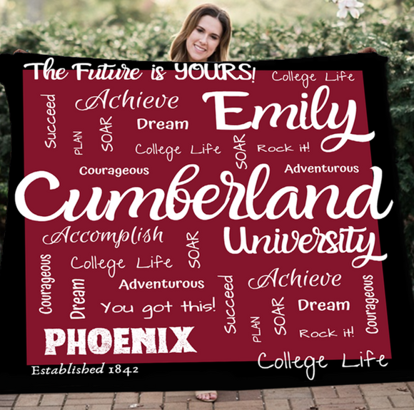 Personalized University Blanket - 100% Fleece