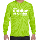 Soldier of Christ Tie-Dye Long Sleeve Tee