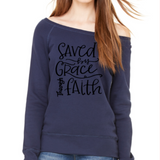 Saved by Grace through Faith Jersey Sweatshirt