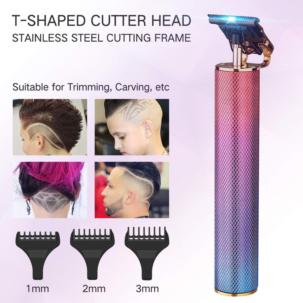 Pro T Outliner Trimmer, Xpreen Cordless Zero Gapped Trimmer Hair Clipper - Electric Pro Li Outliner T Blade Trimmer for Barbers Ornate Hair Clippers for Men (Colorful)