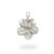 Plumeria Pendant Brushed Sterling Silver, 11 mm