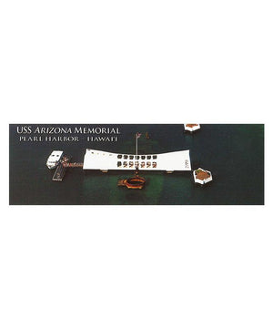 USS Arizona Memorial Aerial View Folding Magnetic Bookmark
