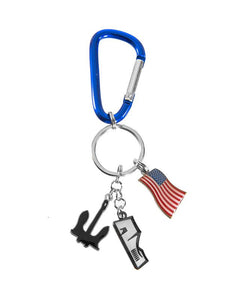 USS Arizona Memorial Charm Keychain