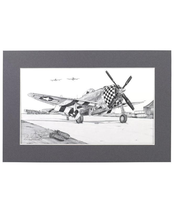 P-47 Thunderbolt Matted Print