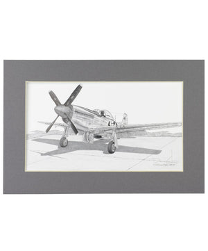P-51 Mustang Matted Print