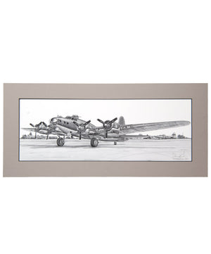 B-17 Flying Fortress Matted Print