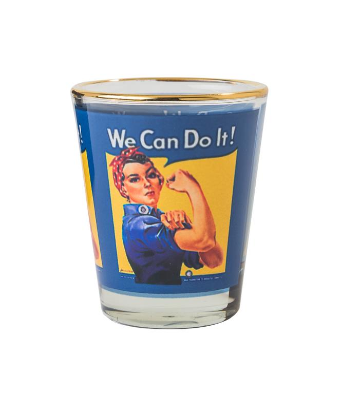 Rosie the Riveter Shot Glass