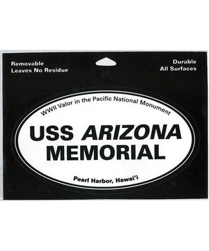 Oval Sticker - USS Arizona Memorial
