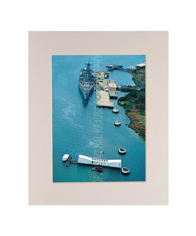 USS Arizona Memorial & USS Missouri 8x10 Matted Photo