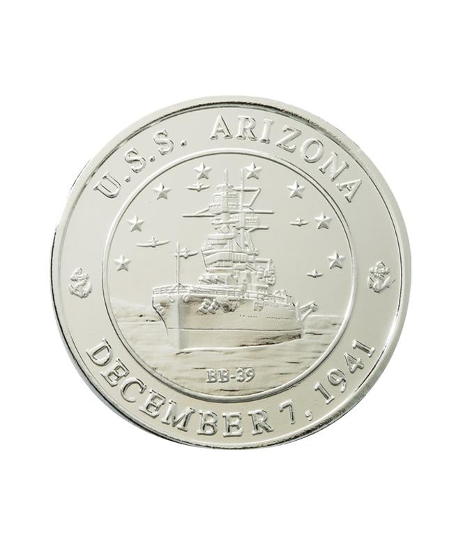 USS Arizona Commemorative Coin Silver Clad