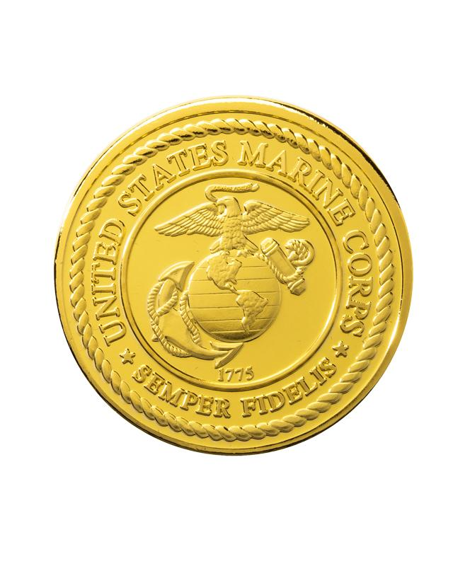 US Marine Corps Commemorative Coin Gold Clad