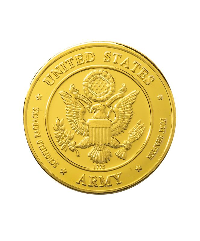 US Army Commemorative Coin Gold Clad