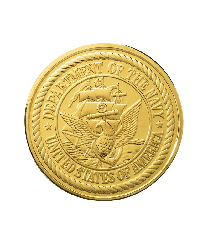 US Navy  Commemorative Coin Gold Clad