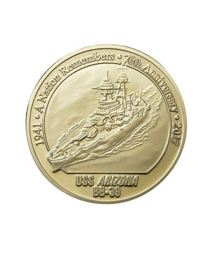 Commemorative Pearl Harbor Coin, Proof Nickel