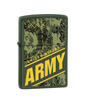 U.S. Army Genuine Zippo Lighter, Green