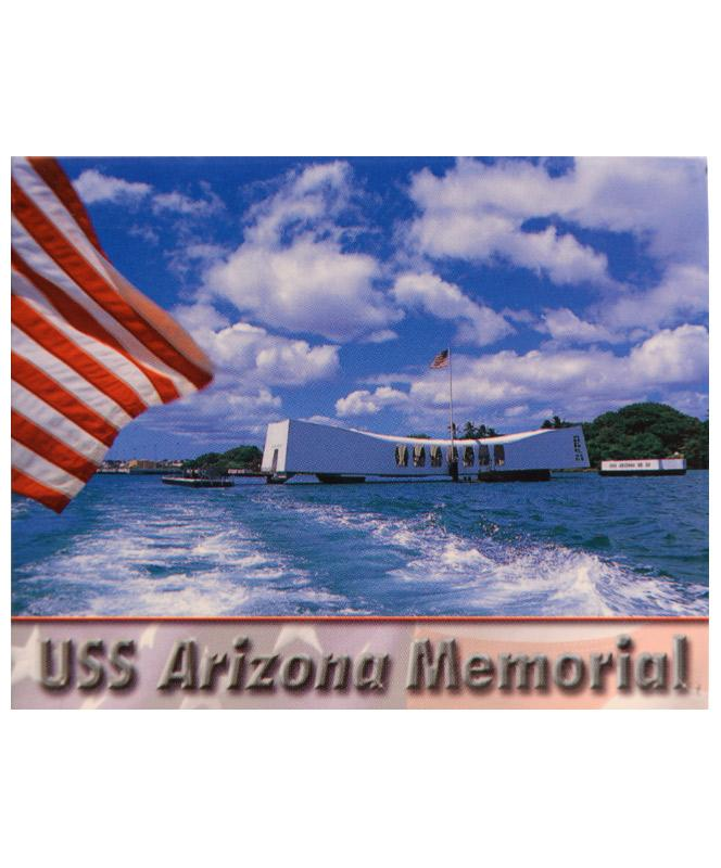 USS Arizona Memorial with Flag Magnet